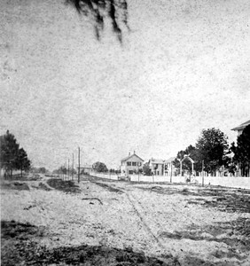 Kingsley Avenue during the 1880s. The road was named for planter Zephaniah Kingsley, who owned large amount of property in Orange Park in the early 1800s. Courtesy of the State Archives of Florida, Florida Memory, http://floridamemory.com/items/show/6503