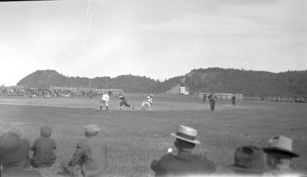 Baseball game at Union Grove park, Ishpeming.