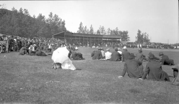 Baseball game at Union Grove park, Ishpeming.