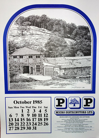 1985 Calendar.P And P 1985 Rossendale Calendar Drawings By John Arkwright Produced