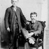 4.  Daniel Rader and unidentified man, perhaps one of his brothers, about 1900.