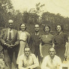2. Standing, from left are Isaac, Bessie, Robert, America and Beulah. Kneeling in front are Pam's grandfather Columbus and Lemuel. The photo was taken prior to Columbus' death in a mining accident in July 1947.