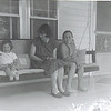 JoJo on her front porch in Fall Branch with granddaughters Pam at right, and little Patty.