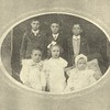 William and Josie's children: in front from left, William Edward, Jr, (1902-1982) Mary Blanche (1903-1995), Charlotte Josephine (JoJo, 1906-1983); in back, Clarence McKinley (1896-1924), John Hobert (1898-1984), and James Mitchell Hendry (1901-1920). Photo dates to about 1907.