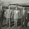 Willis, Wilmer, Levi and Fain, possible at Fannie's funeral in February 1957.