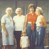 8.  Five generations: Margaret, her daughter Nigel, her granddaughter Ruby Jean, her great-granddaughter Kathy Millsap, and Kathy's daughter Missy, born in 1975.