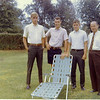 2. About 1966 at Bernie Shepard's house. From left are Steve Jackson, Ron Pyron and Doug Parkey.