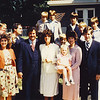 3. Doug Parkey returned to Humboldt to preach at the church homecoming in September 1981. He and wife Karen are at right with their daughter and sons; Ron and Sandra Lowery are in the middle with their boys at the back; Pam and I are at the left with our son Jeremiah.