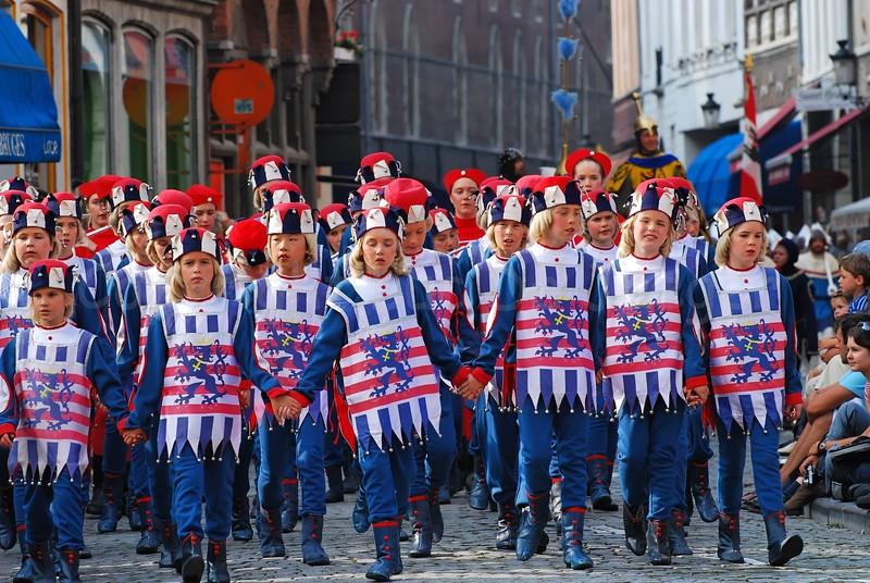 The Pageant of the Golden Tree (Praalstoet van de Gouden Boom) takes place only every five years in Bruges (Brugge), Belgium.