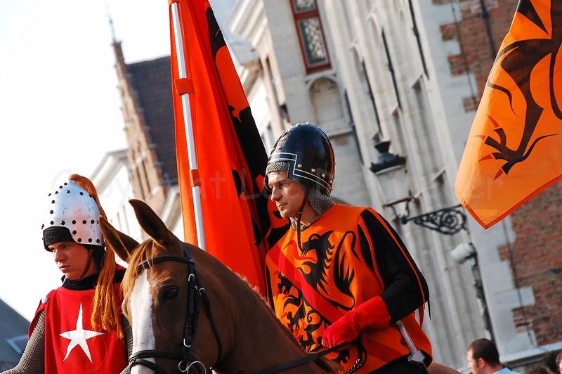 The Pageant of the Golden Tree (Praalstoet van de Gouden Boom) takes place only every five years in Bruges (Brugge), Belgium. The heroes of Groeninge.