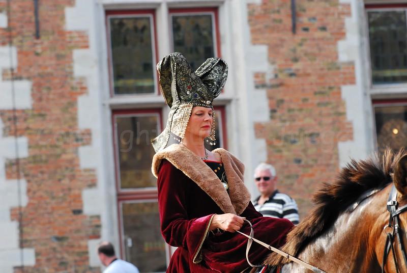 The Pageant of the Golden Tree (Praalstoet van de Gouden Boom) takes place only every five years in Bruges (Brugge), Belgium. The Golden Fleece.