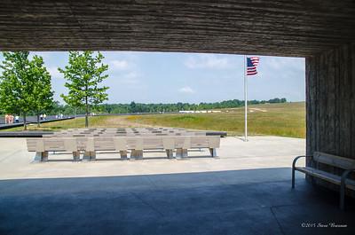 Looking towards the memorial wall