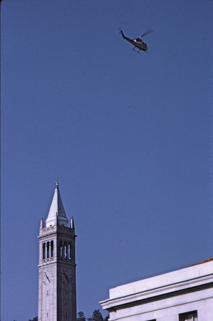3*Thu, May 15, 1969<br /> *People: <br /> Subject: helicopter observing<br /> *Place: over Campanile<br /> Activity: ppp<br /> Comments: