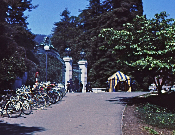3*Thu, May 15, 1969<br /> *People: cop V with guns out<br /> Subject: bikes<br /> *Place: Sather Gate<br /> Activity: ppp<br /> Comments: