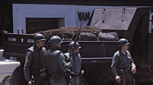 4*Tue, May 20, 1969<br /> *People: 4 National Guard<br /> Subject: barbed wire in truck<br /> *Place: Bancroft<br /> Activity: ppp<br /> Comments: