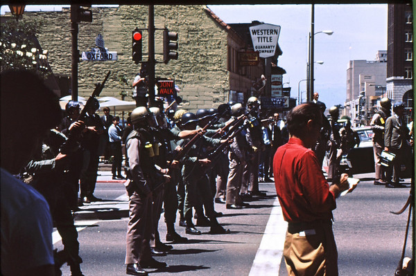 4*Tue, May 20, 1969<br /> *People: cops with guns and bayonets!!!<br /> Subject: news man<br /> *Place: Oxford at Center<br /> Activity: ppp<br /> Comments:
