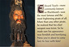 Blackbeard's severed head.