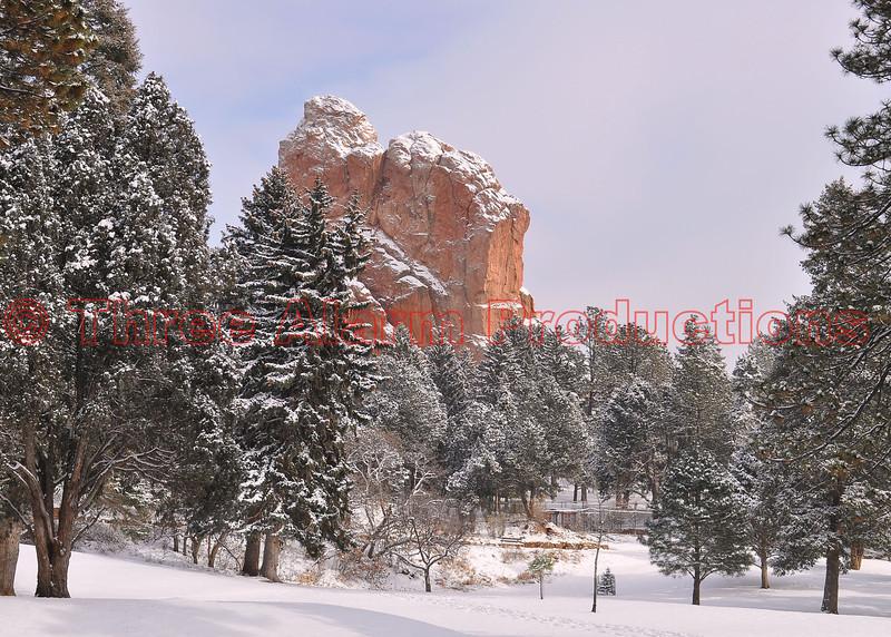 Wintertime at Glen Eyrie, Colorado.