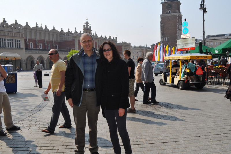 Main market square in Krakow: a wonderful mix of the old and the new
