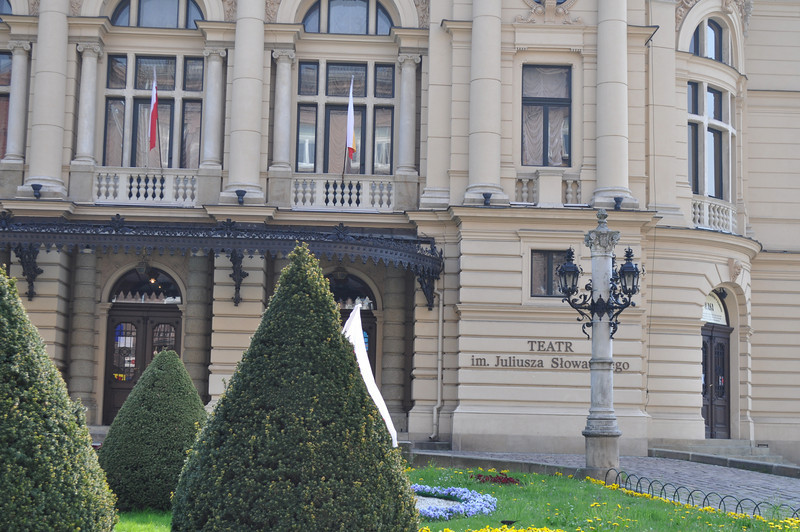 """<a href=""""http://www.slowacki.krakow.pl/en/"""">http://www.slowacki.krakow.pl/en/</a><br /> <br /> Juliusz Słowacki Theatre has continuously been playing a unique role in cultural landscape of Kraków. The theatre has been continuously staging plays since 1893. It is one of the most famous and distinguished Polish theatre scenes. The edifice, designed by Jan Zawiejski, is ranked among the most valuable monuments of theatre architecture in Europe."""