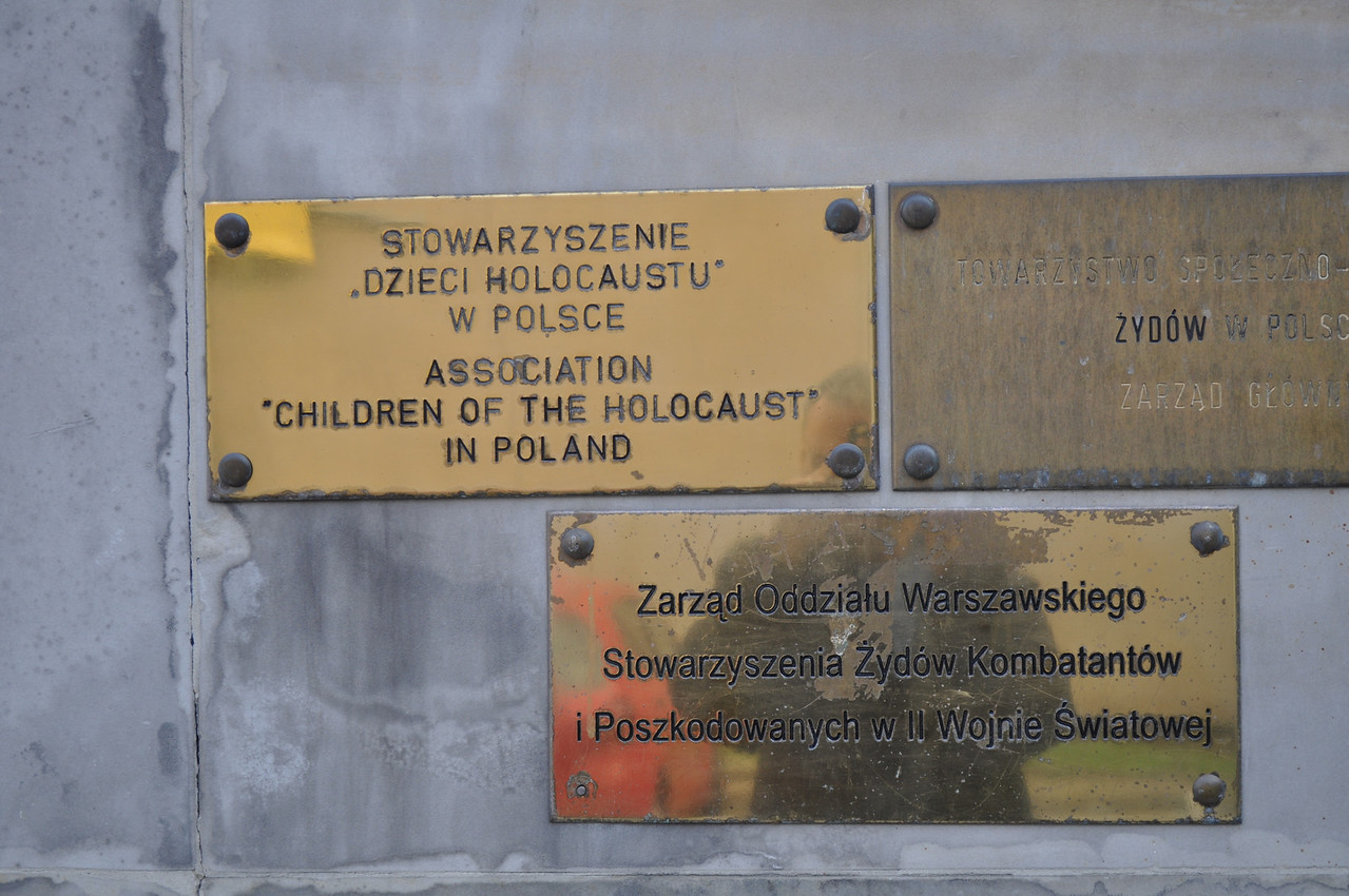 Small commemorative signs are all that is left in most jewish areas in Warsaw...