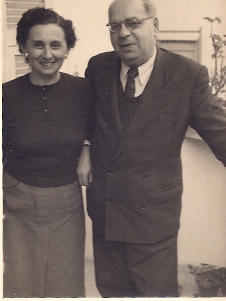 My grandparents shortly after arriving in Israel