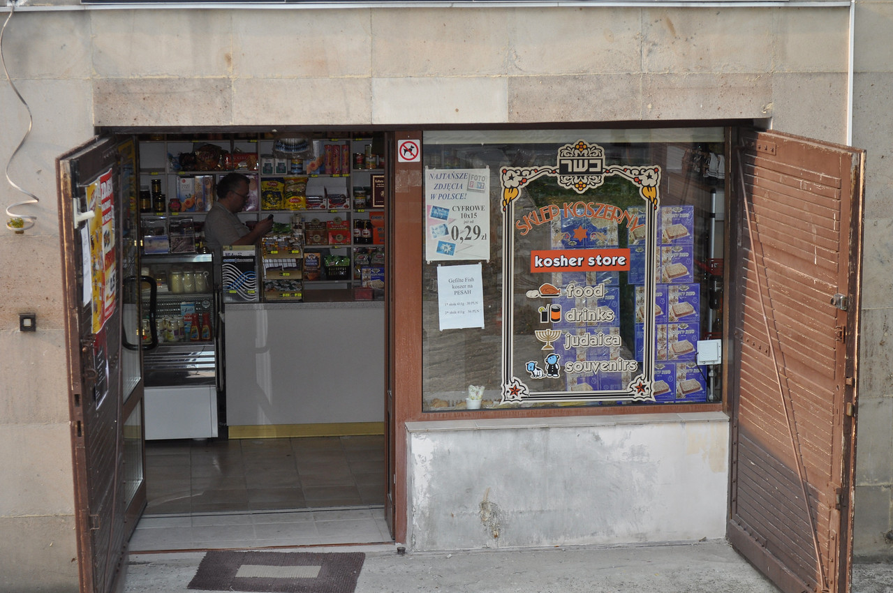 A kosher store by the synagogue