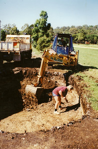 Digging out our pool 1995