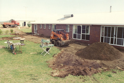 Digging out for our pergloa in 1991