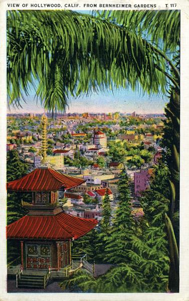 Hollywood from Bernheimer Gardens
