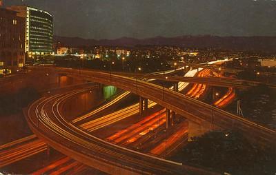 Harbor Freeway Night Traffic