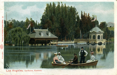 People on Boat in Eastlake Park