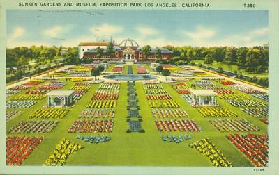 Sunken Gardens and Museum Aerial