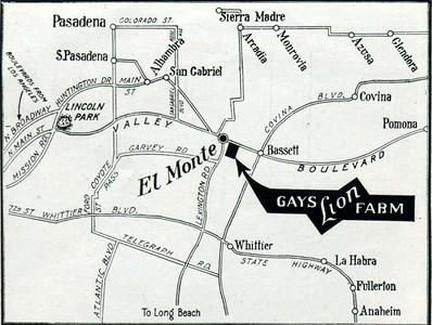 Gay's Lion Farm Location