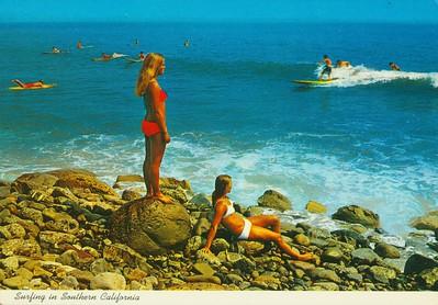 Surfing in Malibu