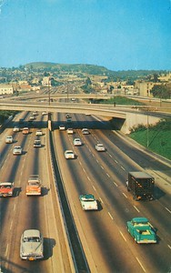 Cars on Harbor Freeway