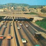 Cars on Harbor Freeway