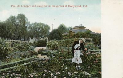 Longpre and Daughter in Garden