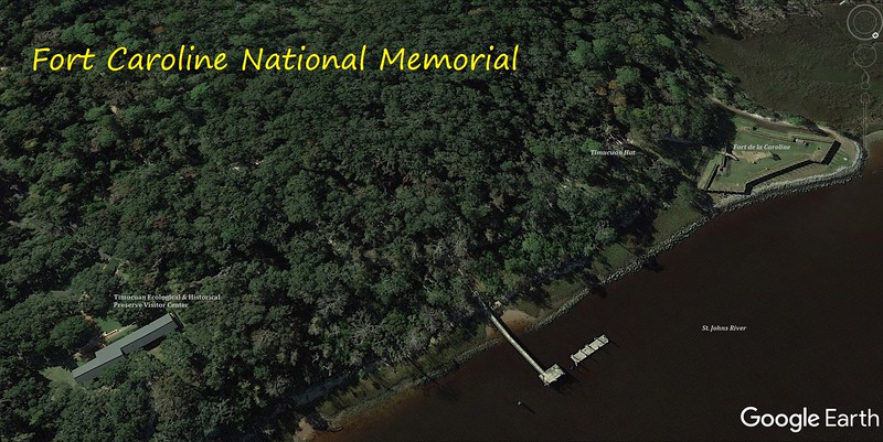 Fort Caroline National Memorial Map