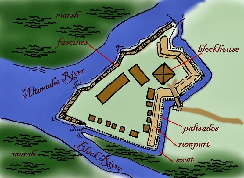 Fort King George Site Map