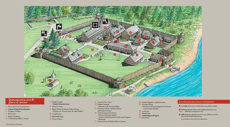 Fort Michilimackinac Site Map