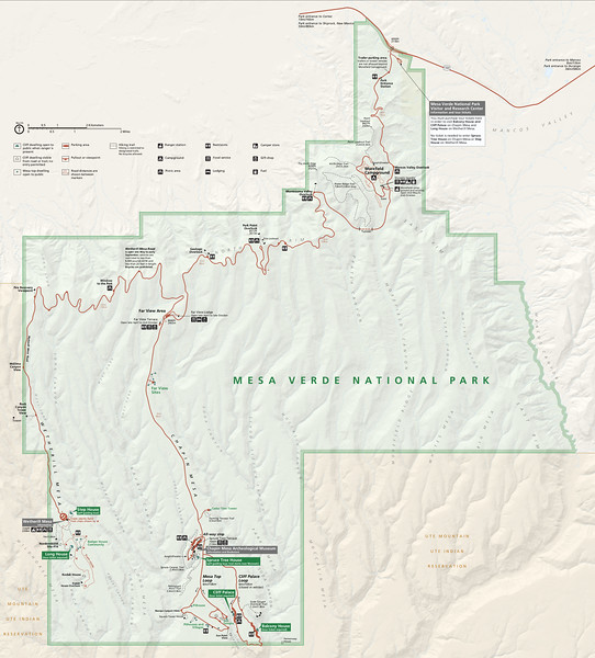 Mesa Verde National Park Map