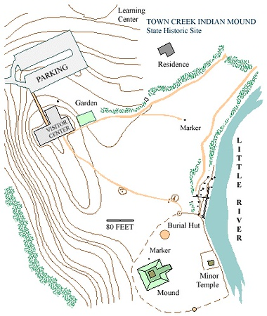 Town Creek Indian Mound Site Map