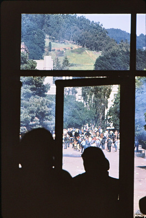 3*Wed, Apr 15, 1970<br /> *People: people dispersed, arrested<br /> Subject: <br /> *Place: Dwinelle plaza<br /> Activity: <br /> Comments: I had taken refuge from cops inside Dwinelle Hall