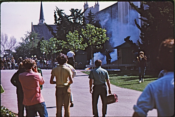 3*Wed, Apr 15, 1970<br /> *People: mostly photogs<br /> Subject: fire <br /> *Place: Callaghan Hall<br /> Activity: <br /> Comments: