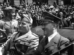 Fuhrer und Duce in Munchen.  Hitler and Mussolini in Munich, Germany, ca.  June 1940.  Eva Braun Collection.  (Foreign Records Seized)Exact Date Shot UnknownNARA FILE #:  242-EB-7-38WAR & ...