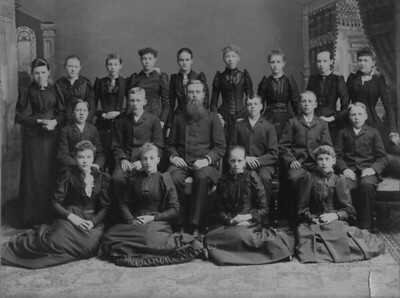 confirmation class - Jenny Johnson (Rear row, far left)