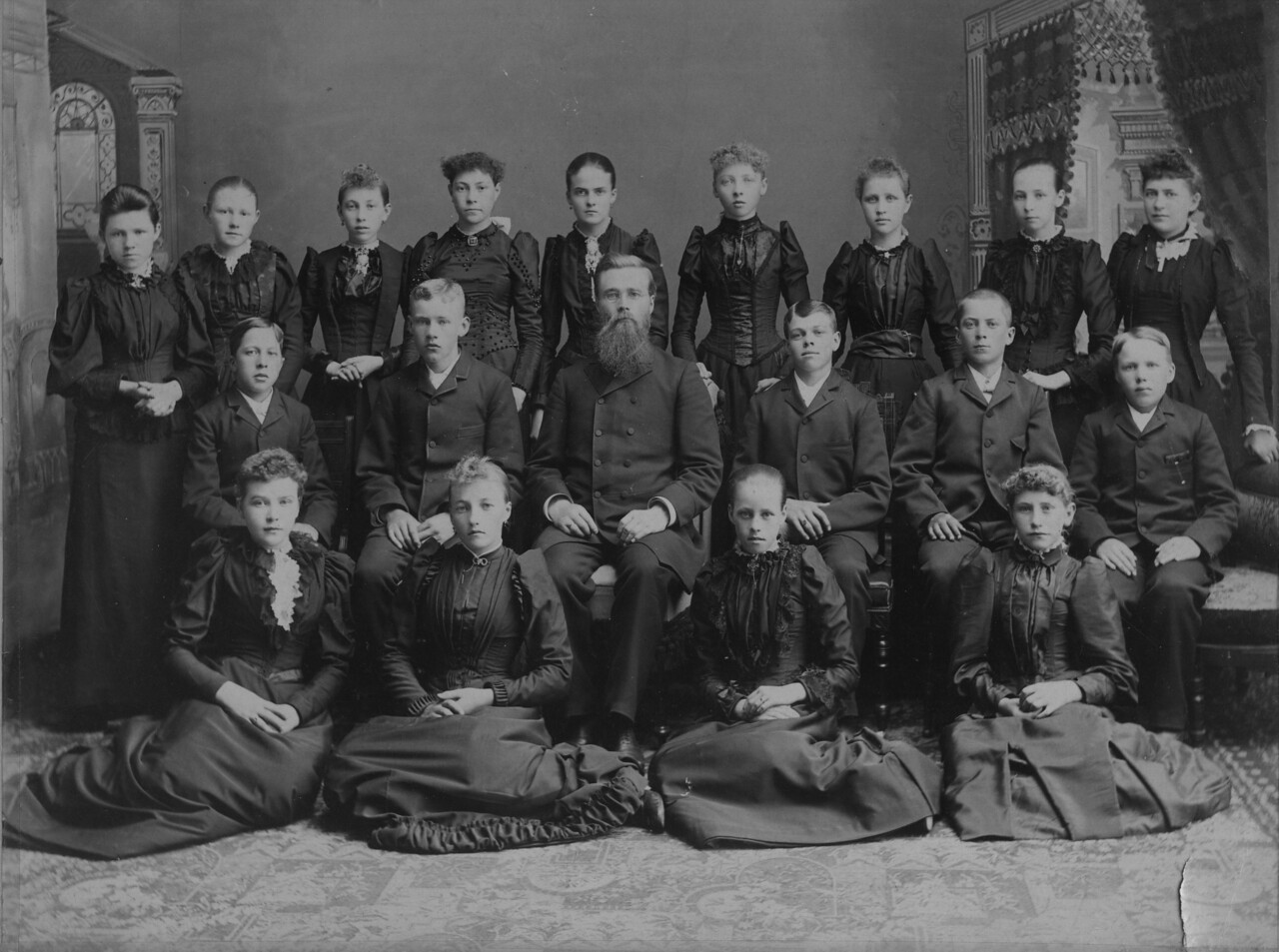 confirmation class - Jenny Johnson (Rear row, far left)