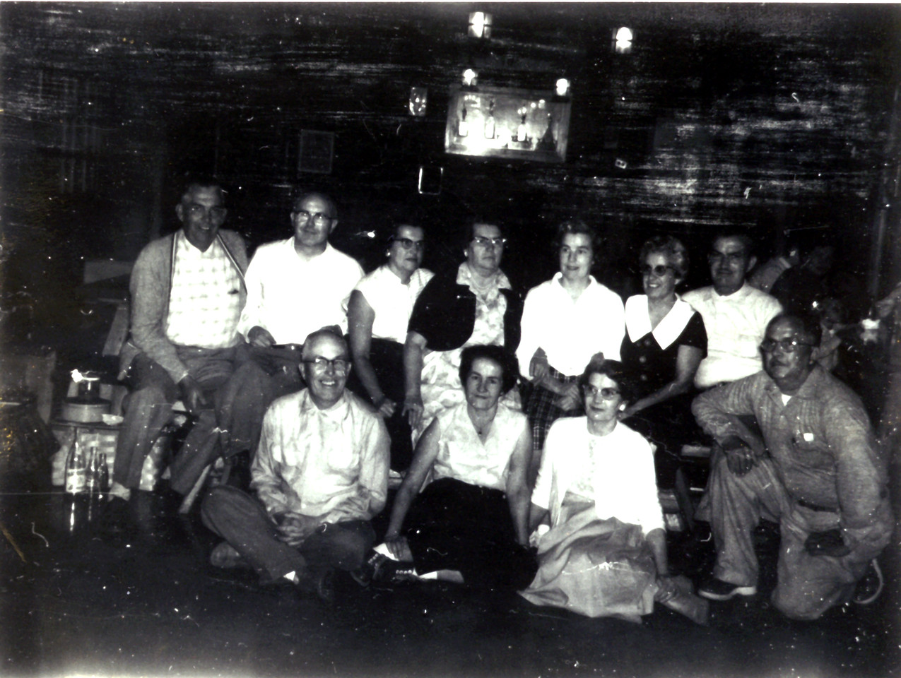 This is the last photo of all siblings together - taken at the Al Quaal clubhouse<br /> William, Arthur, Agnes, Jennie, Ruth, Florence, Malcolm<br /> Norman, Margaret, Borghild, Herbert