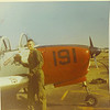 """5. PREFLIGHT ON THE T-34.    Initial assignment was to Saufley Field just west of Pensacola for primary flight training in the T34 Mentor. My first flight was Sept 29, 1969. The instructors were young Navy and Marine Lts and Captains, most just back from a tour in Vietnam. Some of the instructors were Drennon, Murry, Cunningham, Friel and Seeley. I soloed on Nov 6th. Many of these flights were to the west, to do touch and gos at practice fields like Foley, Magnolia, Loxley, Robertsdale and Silver Hill, in south Alabama. Some of these fields are mentioned in this article:   <a href=""""http://www.airfields-freeman.com/AL/Airfields_AL_Mobile.htm#Barin"""">http://www.airfields-freeman.com/AL/Airfields_AL_Mobile.htm#Barin</a>             Saufley Field has been used by the Navy since 1933."""